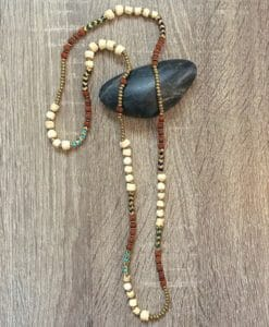 rudraksha beaded block necklace