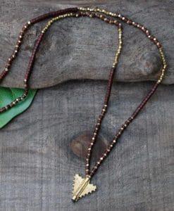 earth arrow necklace