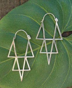 star point earrings