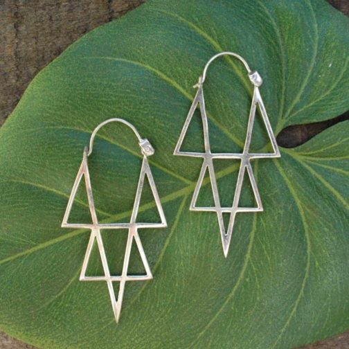 star point earrings