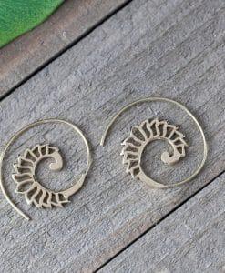 hollow spiral earring
