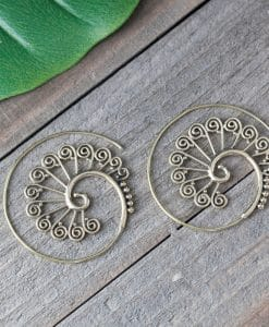 warrior spiral earring