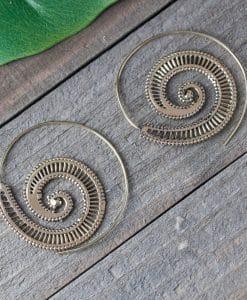 snail spiral earring