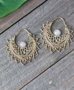 sunburst stone earring