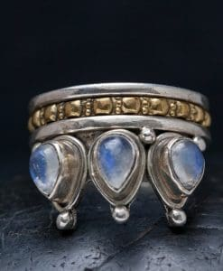 moonstone crown spinner ring