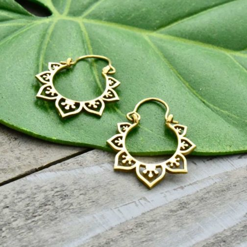 tiny lotus hoops