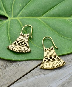 tribal bell earrings