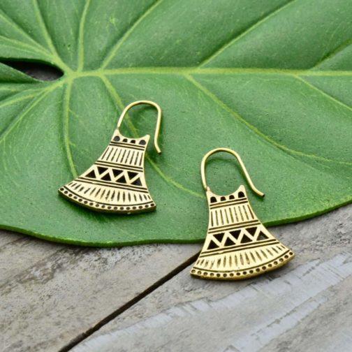 tribal bell earrings