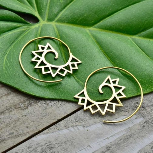 mountain spiral earrings