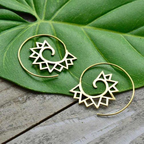 mountain spiral earrings