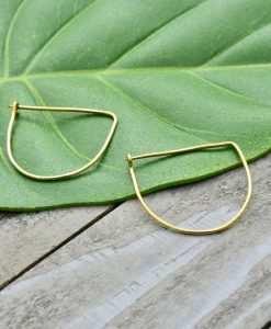 offset wire earrings