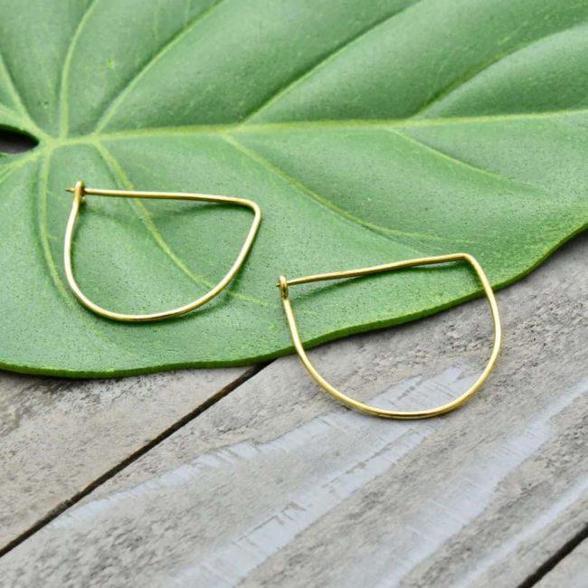 offset wire earrings