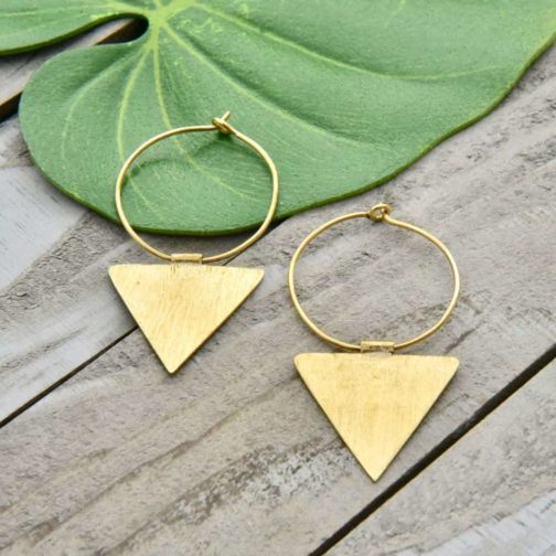 dropped triangle hoops