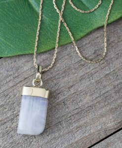 freeform moonstone necklace