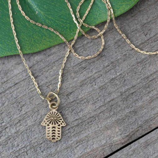 tiny hamsa necklace